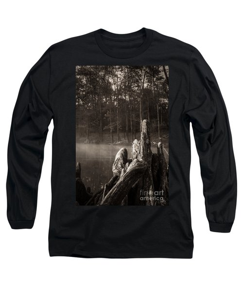 Cypress Knees In Sepia Long Sleeve T-Shirt