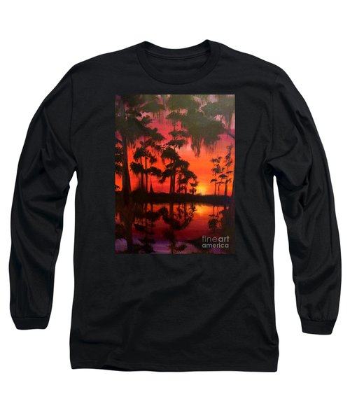 Cypress Swamp At Sunset Long Sleeve T-Shirt