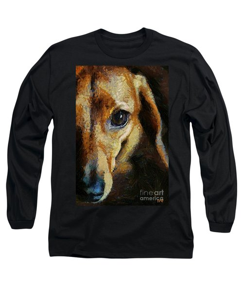 Dachshund Chocolate Long Sleeve T-Shirt