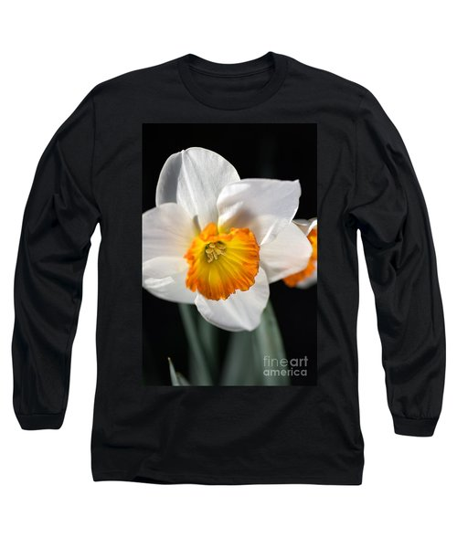 Daffodil In White Long Sleeve T-Shirt