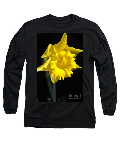 Daffodil Yellow Bloom Long Sleeve T-Shirt