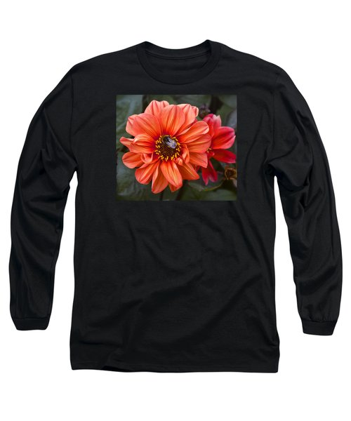 Dahlia With Bee Long Sleeve T-Shirt by Venetia Featherstone-Witty