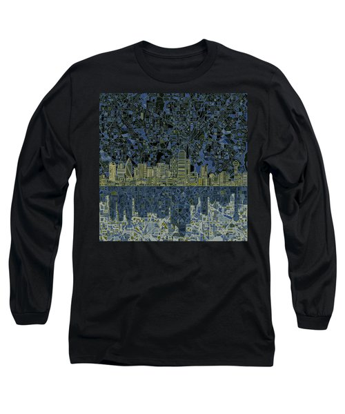 Dallas Skyline Abstract 2 Long Sleeve T-Shirt