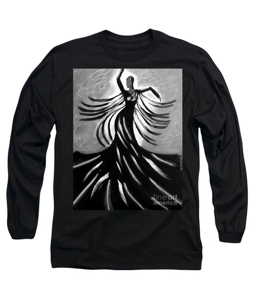 Long Sleeve T-Shirt featuring the painting Dancer 2 by Anita Lewis