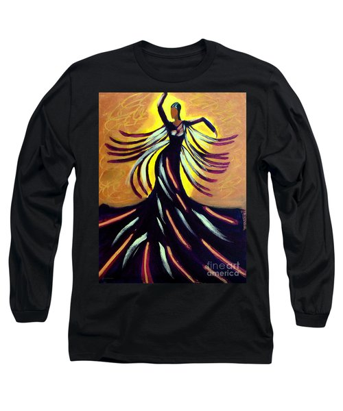 Long Sleeve T-Shirt featuring the painting Dancer by Anita Lewis