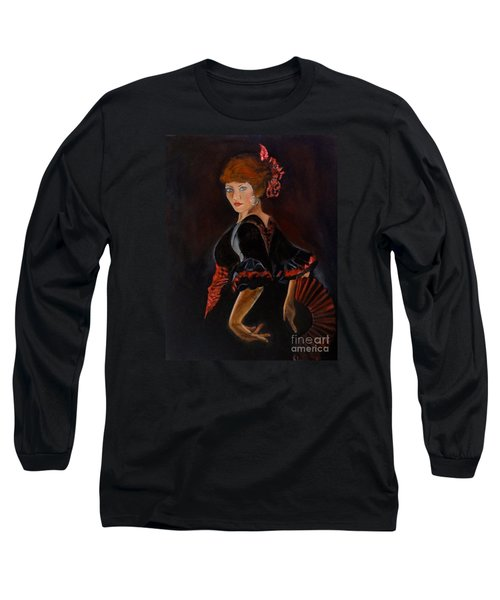 Long Sleeve T-Shirt featuring the painting Dancer by Jenny Lee
