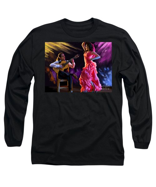 Dancing Gypsy Woman Long Sleeve T-Shirt