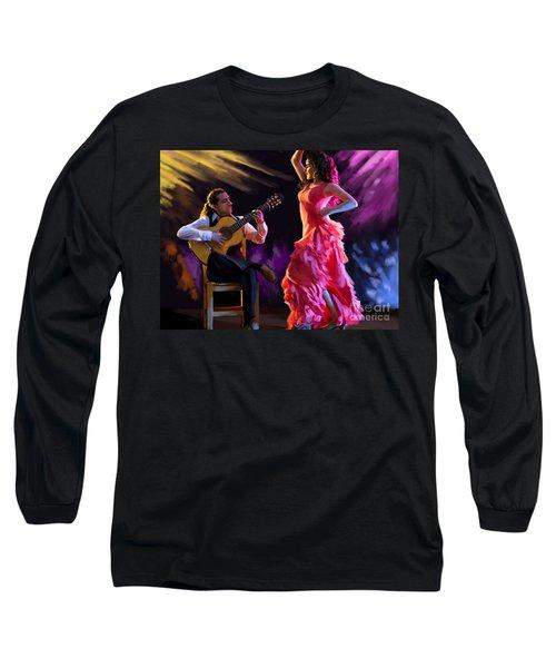 Dancing Gypsy Woman Long Sleeve T-Shirt