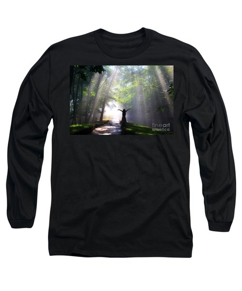 Dancing In God's Light Copyright Willadawn Photography Long Sleeve T-Shirt