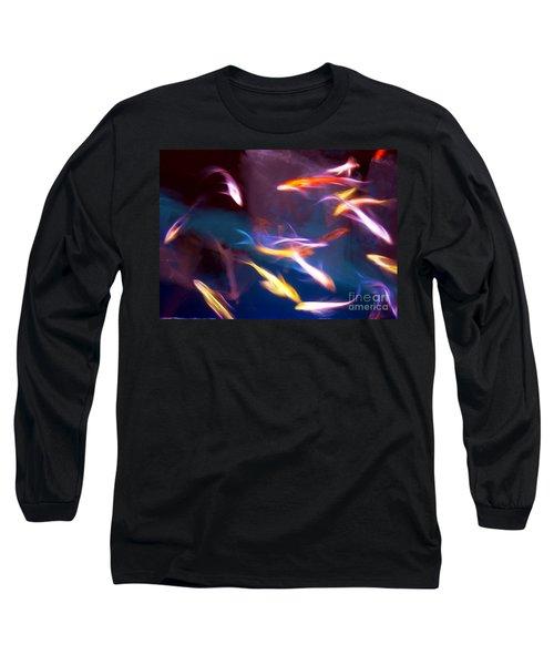 Dancing With Koi Long Sleeve T-Shirt by Judi Bagwell
