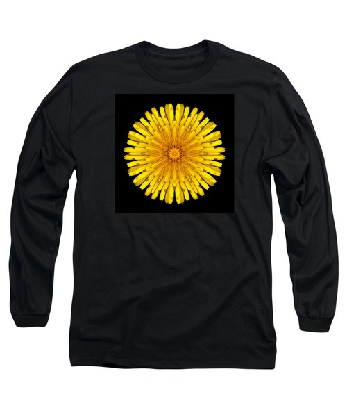 Long Sleeve T-Shirt featuring the photograph Dandelion Flower Mandala by David J Bookbinder