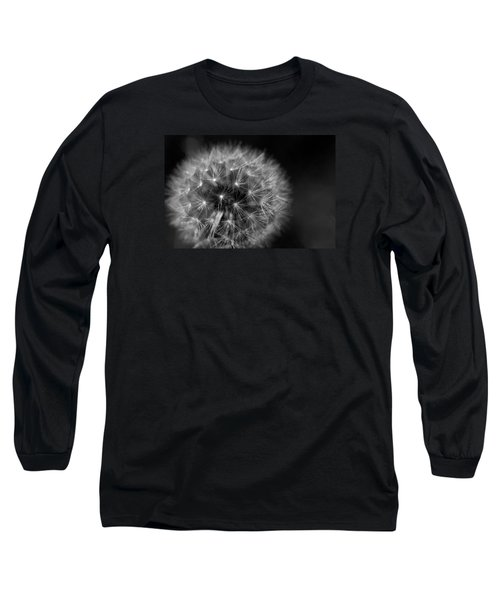 Long Sleeve T-Shirt featuring the photograph Dandelion Fluff by Rebecca Davis
