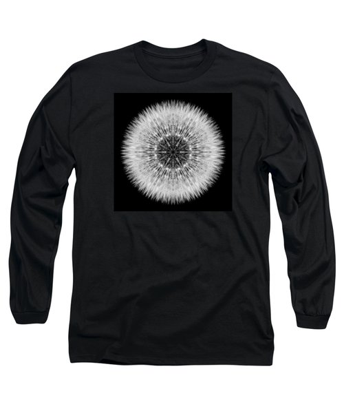 Dandelion Head Flower Mandala Long Sleeve T-Shirt