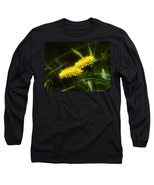 Long Sleeve T-Shirt featuring the photograph Dandelions by Sherman Perry