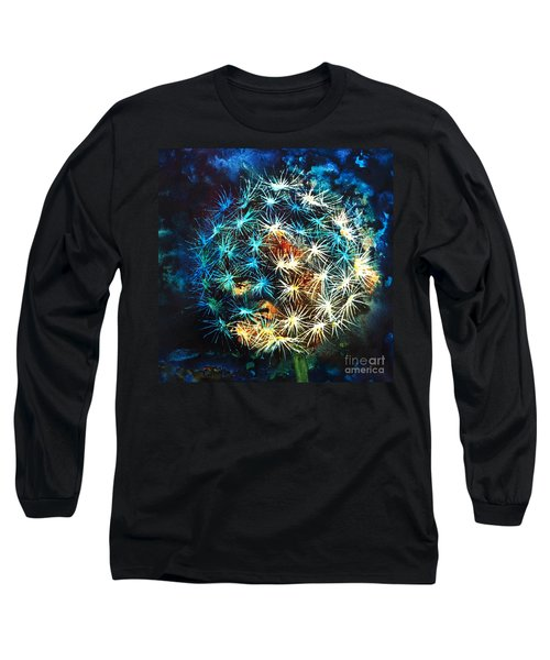 Long Sleeve T-Shirt featuring the painting Dandy Puff by Kathy Braud