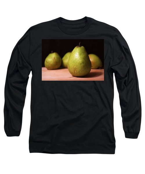 D'anjou Pears Long Sleeve T-Shirt by Joseph Skompski