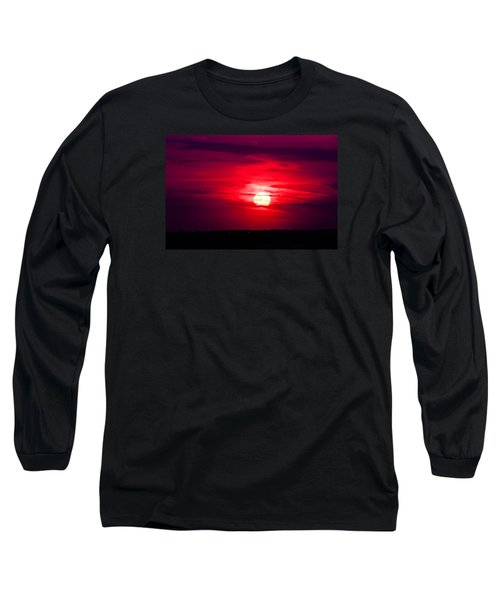 Long Sleeve T-Shirt featuring the photograph Dark Sunset by Julie Andel