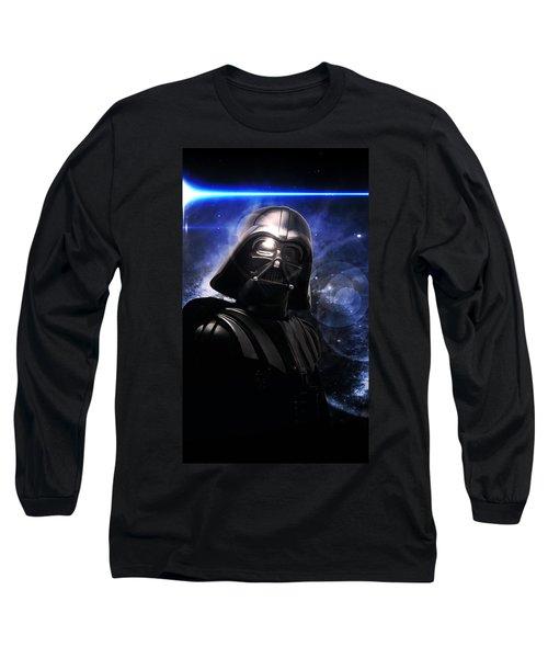 Long Sleeve T-Shirt featuring the digital art Darth Vader by Aaron Berg