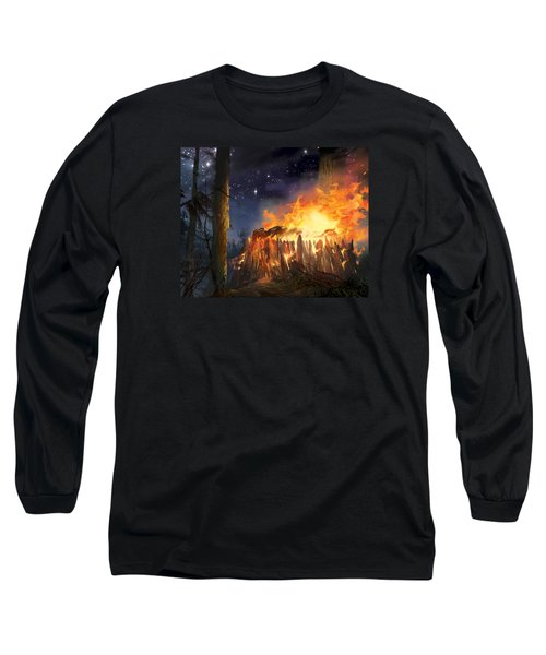 Darth Vader's Funeral Pyre Long Sleeve T-Shirt