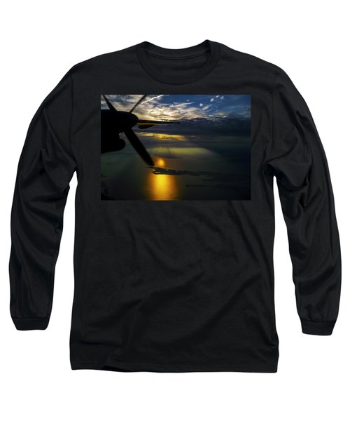 Dash Of Sunset Long Sleeve T-Shirt by Greg Reed