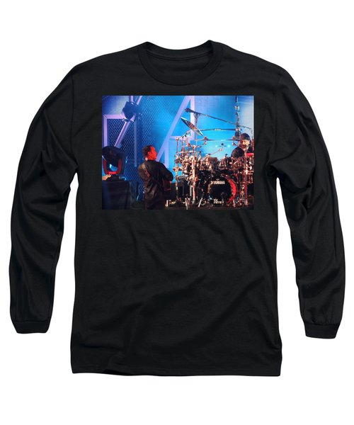 Long Sleeve T-Shirt featuring the photograph Dave Looks At Carter by Aaron Martens