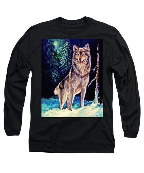 Long Sleeve T-Shirt featuring the painting Dawn Of A New Day Original Painting Forsale by  Nadine Johnston