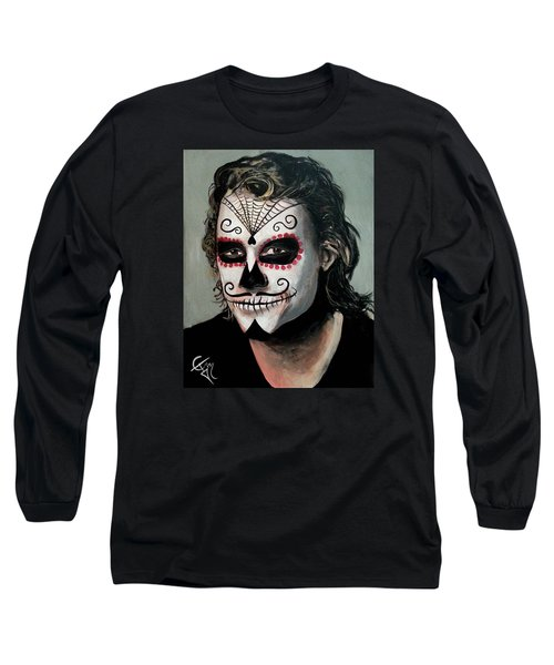 Day Of The Dead - Heath Ledger Long Sleeve T-Shirt