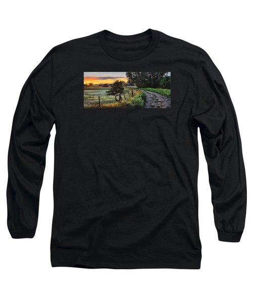 Daybreak Southwest Corner Fenceline Long Sleeve T-Shirt by Bruce Morrison