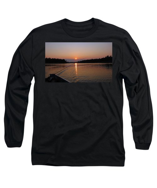 Long Sleeve T-Shirt featuring the photograph Sunset Fishing by Debbie Oppermann