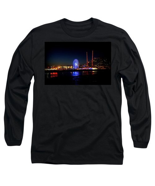 Long Sleeve T-Shirt featuring the photograph Daytona At Night by Laurie Perry