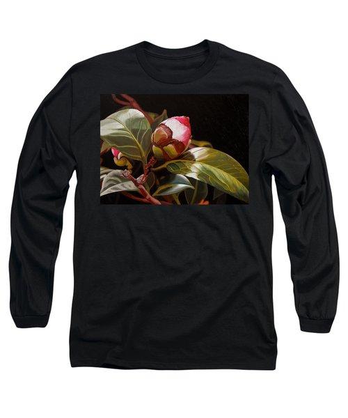 December Rose Long Sleeve T-Shirt by Thu Nguyen