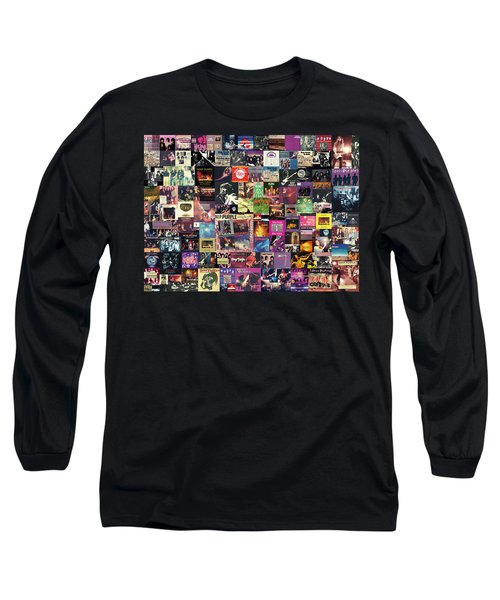 Deep Purple Collage Long Sleeve T-Shirt