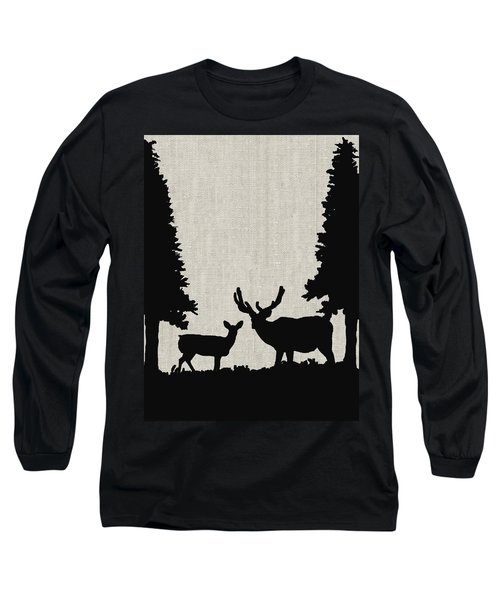 Deer In Forest Long Sleeve T-Shirt