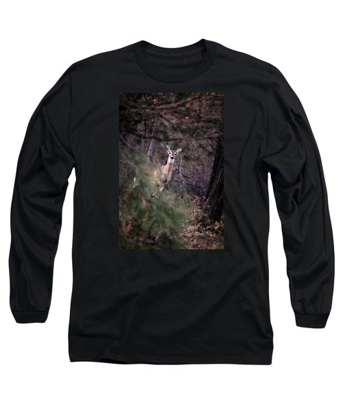 Long Sleeve T-Shirt featuring the photograph Deer's Stomping Grounds. by Joshua Martin