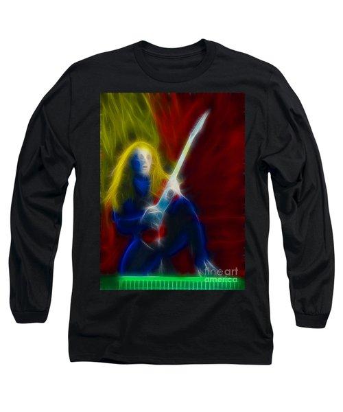 Def Leppard-adrenalize-ga5-vivian-fractal Long Sleeve T-Shirt by Gary Gingrich Galleries