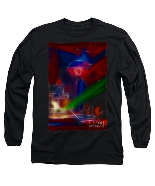 Def Leppard-adrenalize-gf12-fractal Long Sleeve T-Shirt by Gary Gingrich Galleries