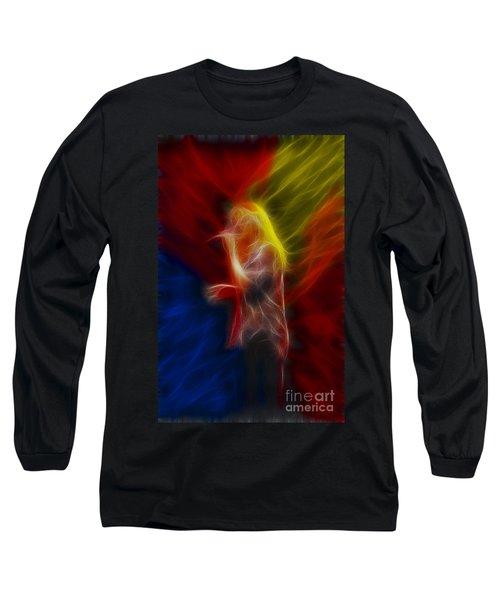 Def Leppard-adrenalize-joe-ga25-fractal Long Sleeve T-Shirt