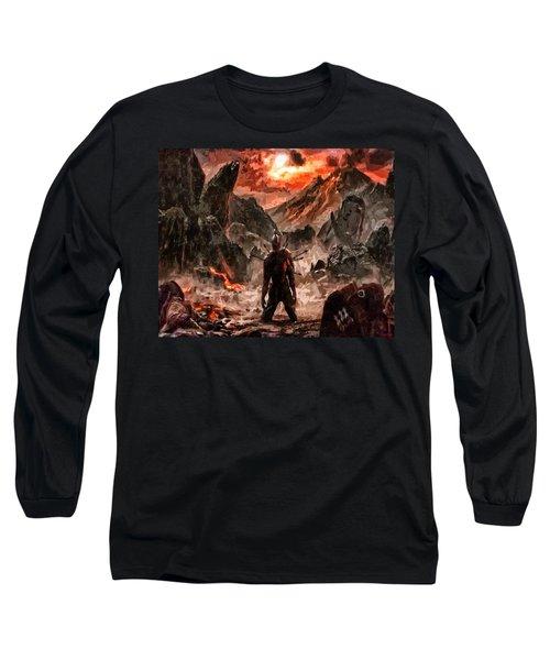 Defiant To The End Long Sleeve T-Shirt by Joe Misrasi