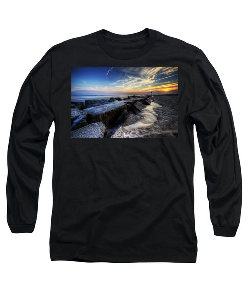 Delaware Sunrise At Indian River Inlet Long Sleeve T-Shirt