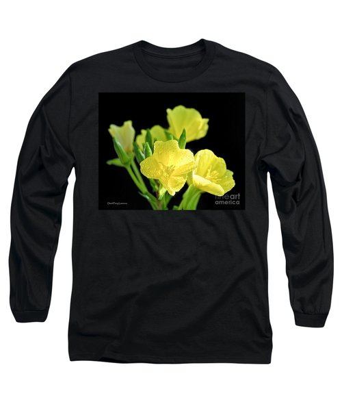 Delicate Yellow Wildflowers In The Sun Long Sleeve T-Shirt by David Perry Lawrence