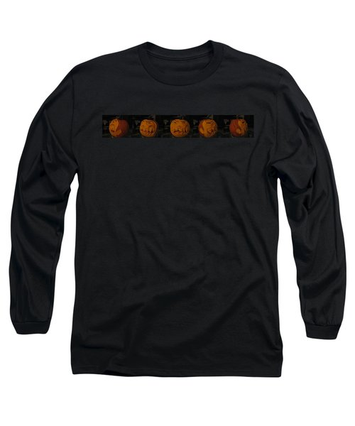 Demented Mister Ullman Pumpkin 3 Long Sleeve T-Shirt by Shawn Dall