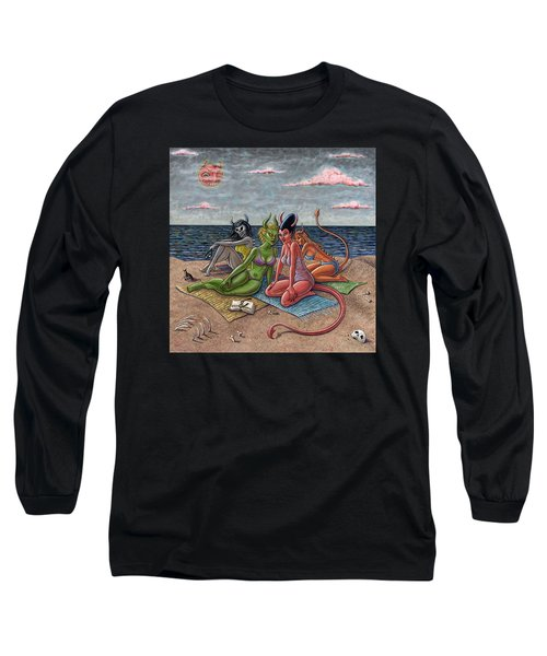 Demon Beaches Long Sleeve T-Shirt by Holly Wood