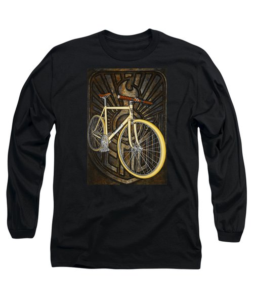 Long Sleeve T-Shirt featuring the painting Demon Path Racer Bicycle by Mark Howard Jones