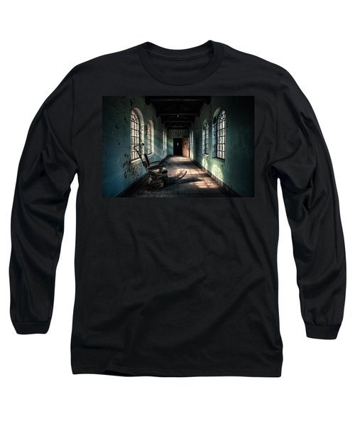 Long Sleeve T-Shirt featuring the photograph Dentists Chair In The Corridor by Gary Heller