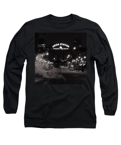 Denver Union Station Square Image Long Sleeve T-Shirt by Ken Smith