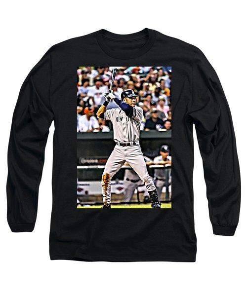 Derek Jeter Painting Long Sleeve T-Shirt