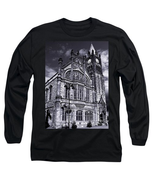 Long Sleeve T-Shirt featuring the photograph Derry Guildhall by Nina Ficur Feenan