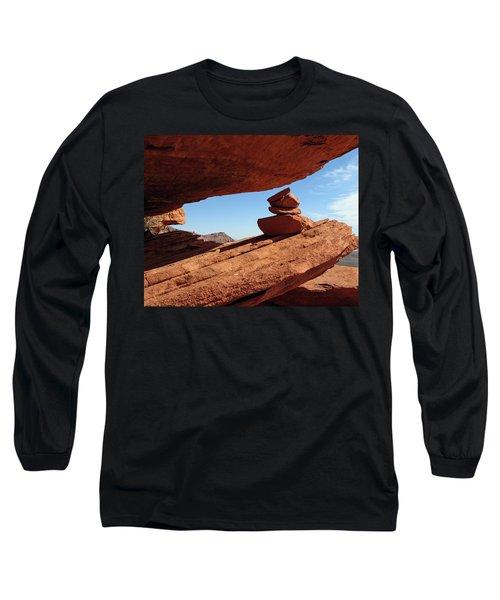 Long Sleeve T-Shirt featuring the photograph Desert Signpost by Alan Socolik