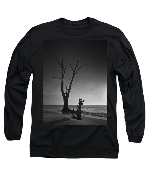 Deserted Beach Sunset Long Sleeve T-Shirt by Bradley R Youngberg