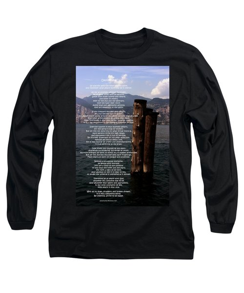 Desiderata On Lake View Long Sleeve T-Shirt